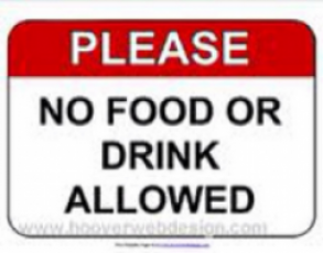 Please, no food, drink or toy